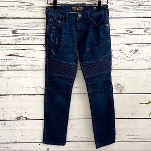 Ring of Fire Boys Slim Fit Moto Jeans SZ 8 slim